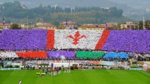 coreografia Fiorentina-Juventus