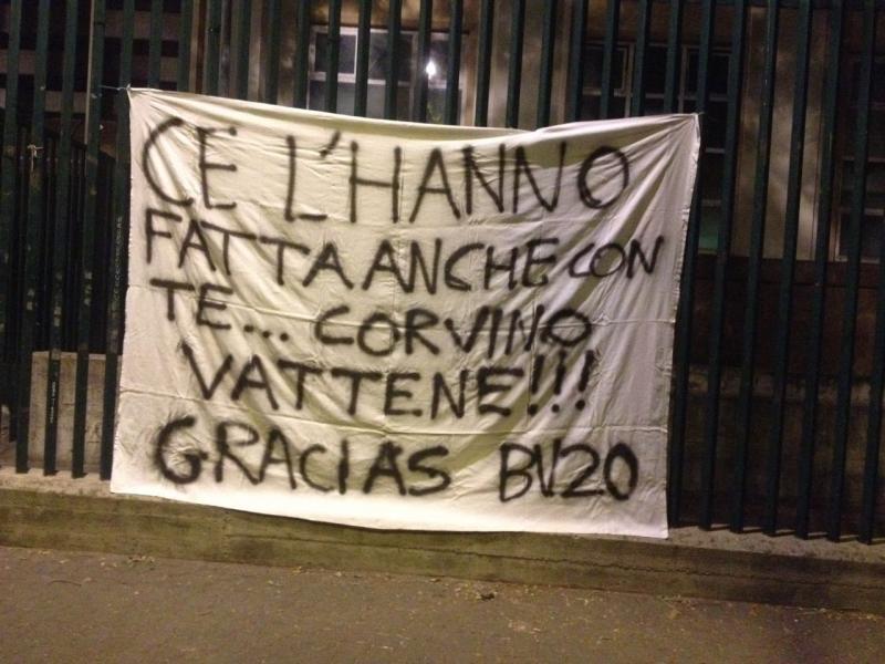 striscione tifosi Fiorentina